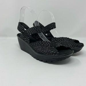 Skechers Memory Foam Peep Toe Wedge women's Size 9